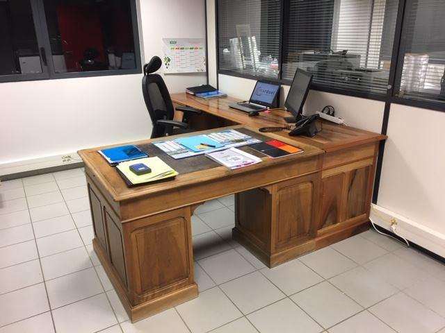 extension de bureau en chêne société Marduel à Arnas
